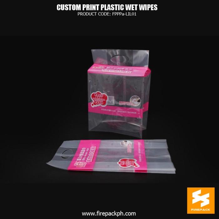 Side Gusset Wet Wipes Packaging Pe 1 Pet Compsite Film , Sanitary Napkin Bag firepack