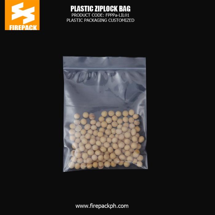 Snack Food Plastic Ziplock Bags , PE Clear Zipper Pouch firepack packaging