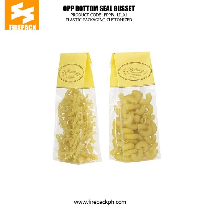 Square Bottom Bopp Side Gusset Custom Printed Clear Cellophane Bags firepack dubai'