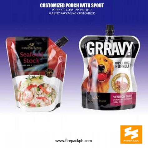 Stand up Aluminum Foil Spout Pouches with Gravure Printing for Liquid firepack