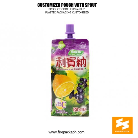 Stand Up Beverage Packing Pouches Gravure Printing With Spout 1 korea supplier
