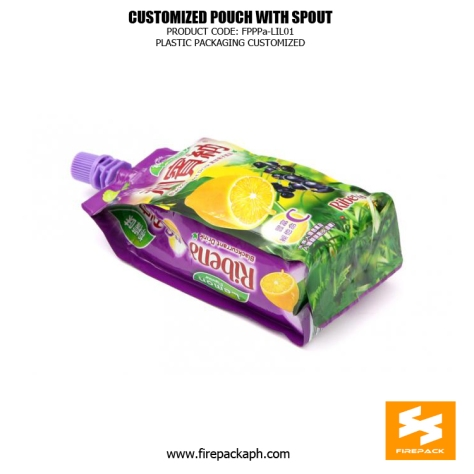 Stand Up Beverage Packing Pouches Gravure Printing With Spout manila supplier