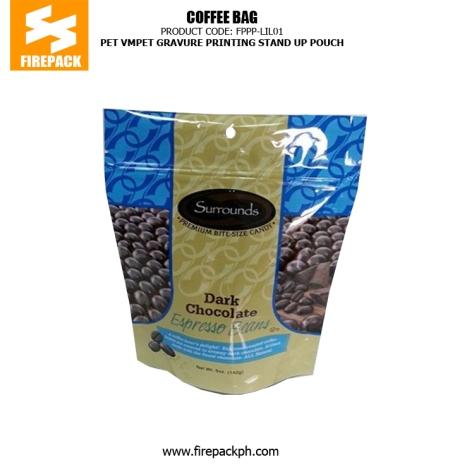 Stand Up Coffee Bag Packaging PET VMPET PE with Gravure Printing firepack