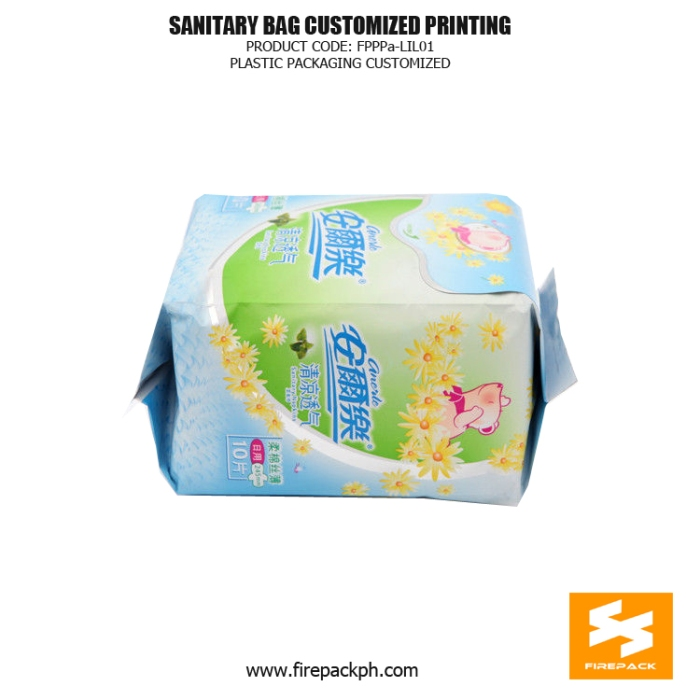 Stand Up Sanitary Towel Bags OPP Matt With Moisture Proof firepack manila supplier