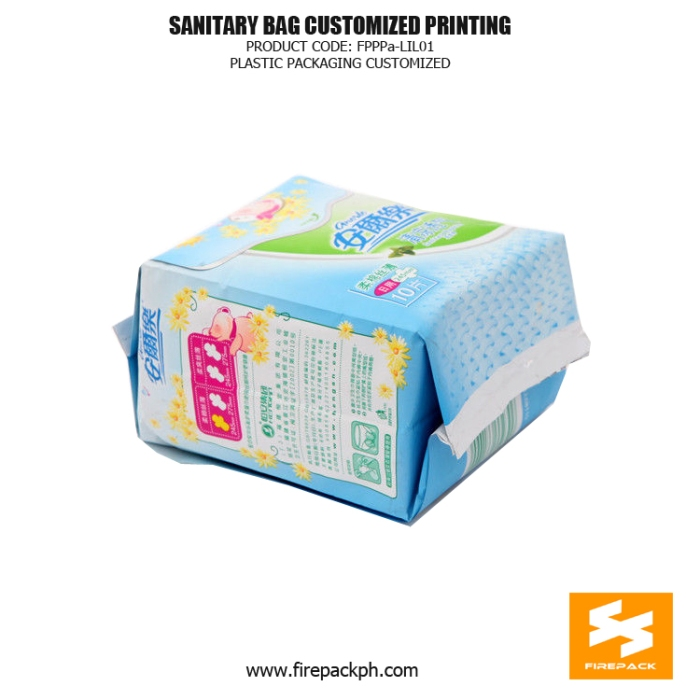 Stand Up Sanitary Towel Bags OPP Matt With Moisture Proof firepack manila