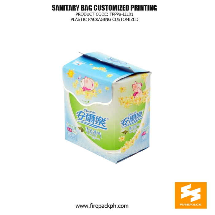 Stand Up Sanitary Towel Bags OPP Matt With Moisture Proof firepack