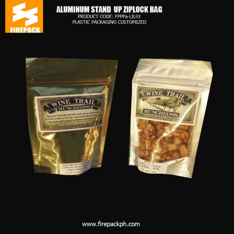 Stand up - Standing Food Packaging and Plastic Ziplock Bags for Packaging firepack manila