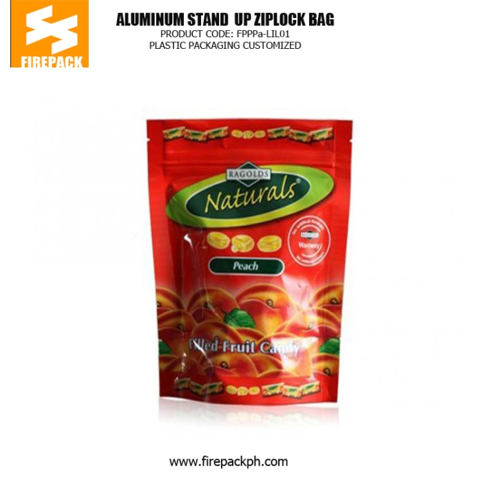 Stand up Zipper Pouch Plastic Ziplock Bags with Clear Window for Packaging Tea firepack kuwait