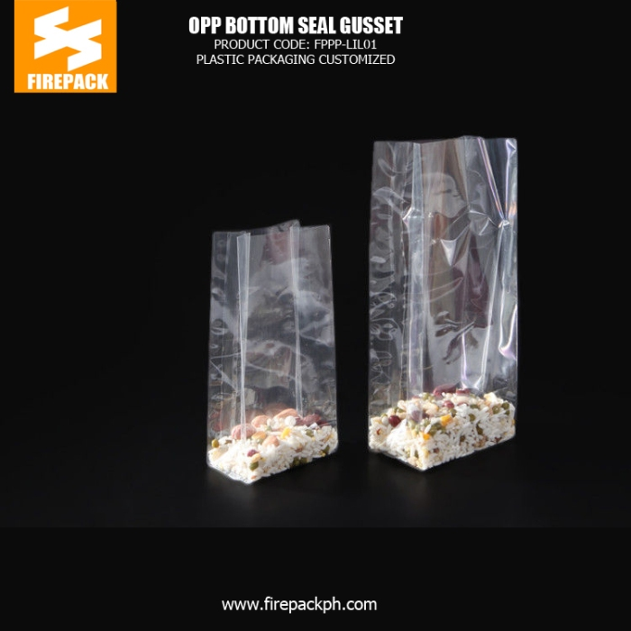 Transparent self adhesive clear bags with Heat Seal , small packaging bags firepack packaging