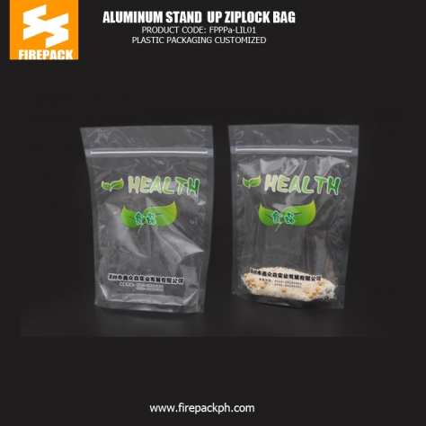 Transparent Stand Up Snack Food Plastic Ziplock Bags - Pouch firepack manila
