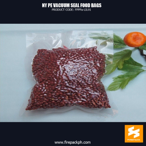 Vacuum Seal Food Bags For Packing Bean NY PE Customized With Heat Seal firepack manila
