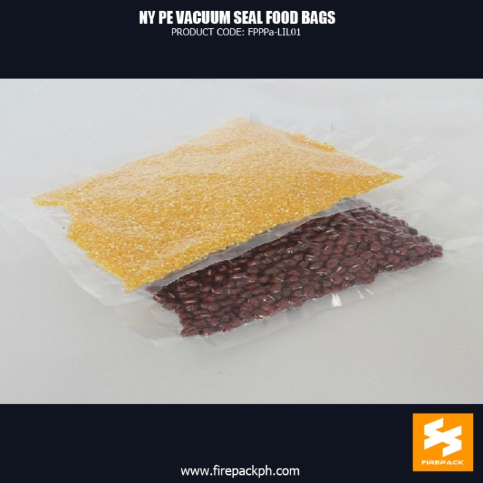 Vacuum Seal Food Bags For Packing Bean NY PE Customized With Heat Seal small minimum supplier