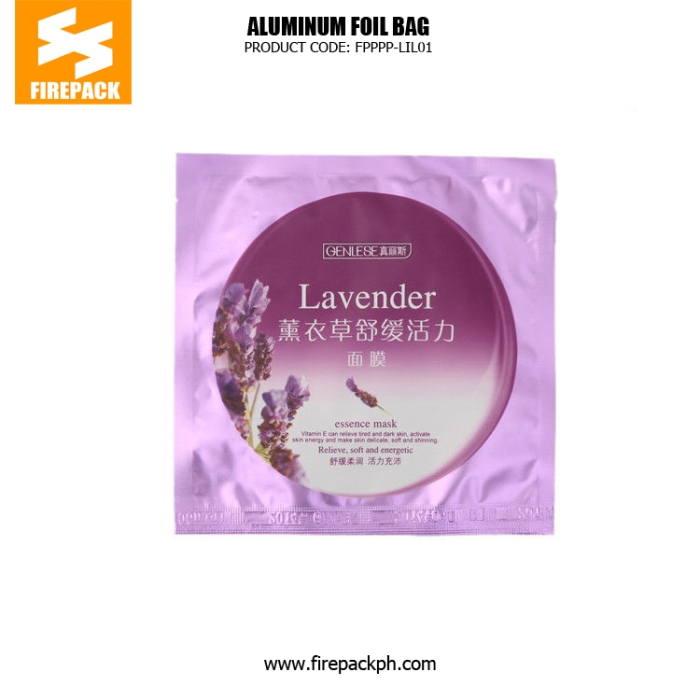 Wholasale Recyclable 3 Side Seal Bag Facial Mask Aluminum Foil Bags firepack supplier