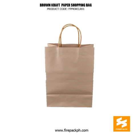 brown kraft paper shopping bag supplier maker cebu