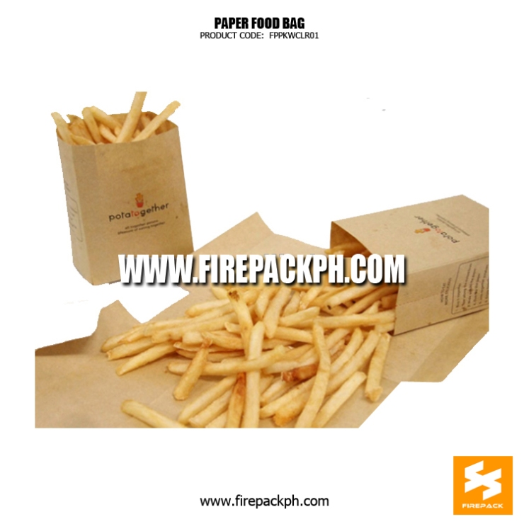 brown paper bag french fries