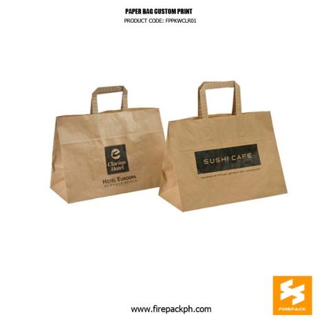 brown paper bag with handle supplier cebu manila firepack