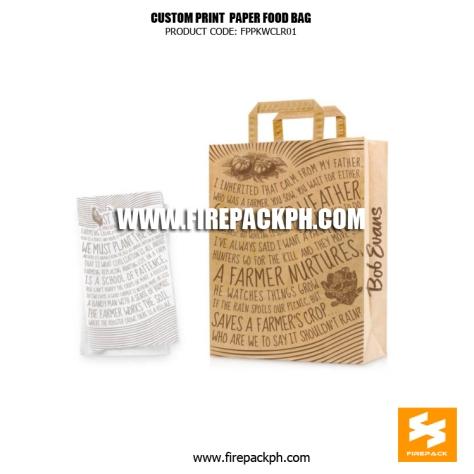 brown paper bag with print supplier japan firepack