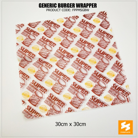 burger wrapper generic