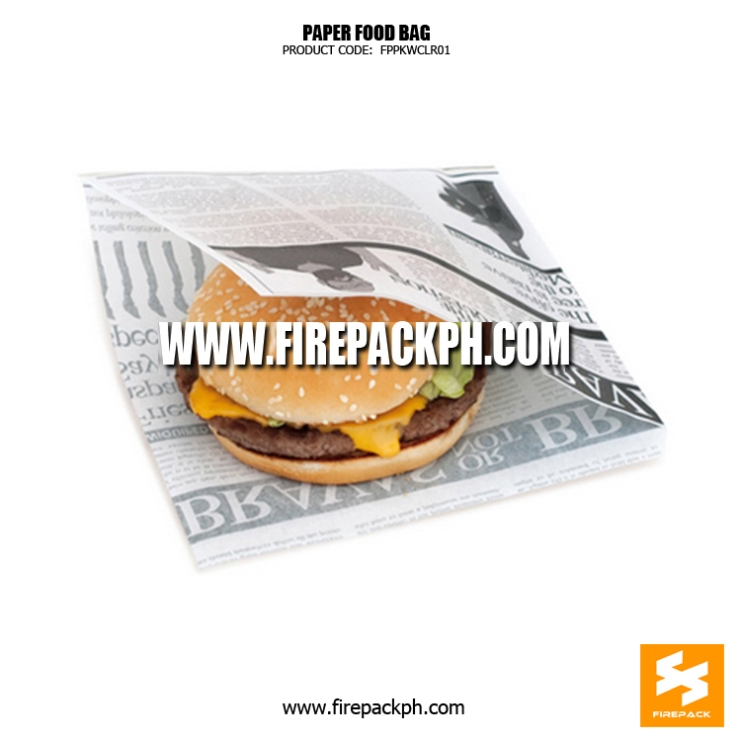burger wrapper wax paper wrapper for burger manila supplier