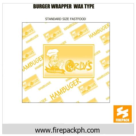 burger wrapper wax paper