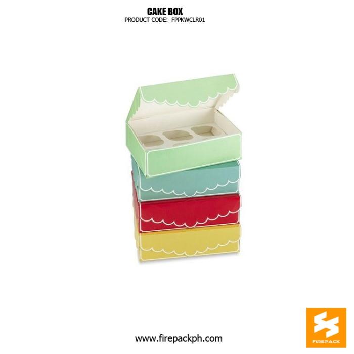 cake box cardboard type nice design cebu