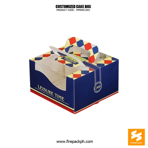 cake box design blue color manila supplier