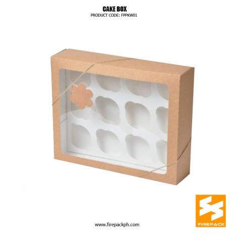 cake box design with window supplier manila firepack