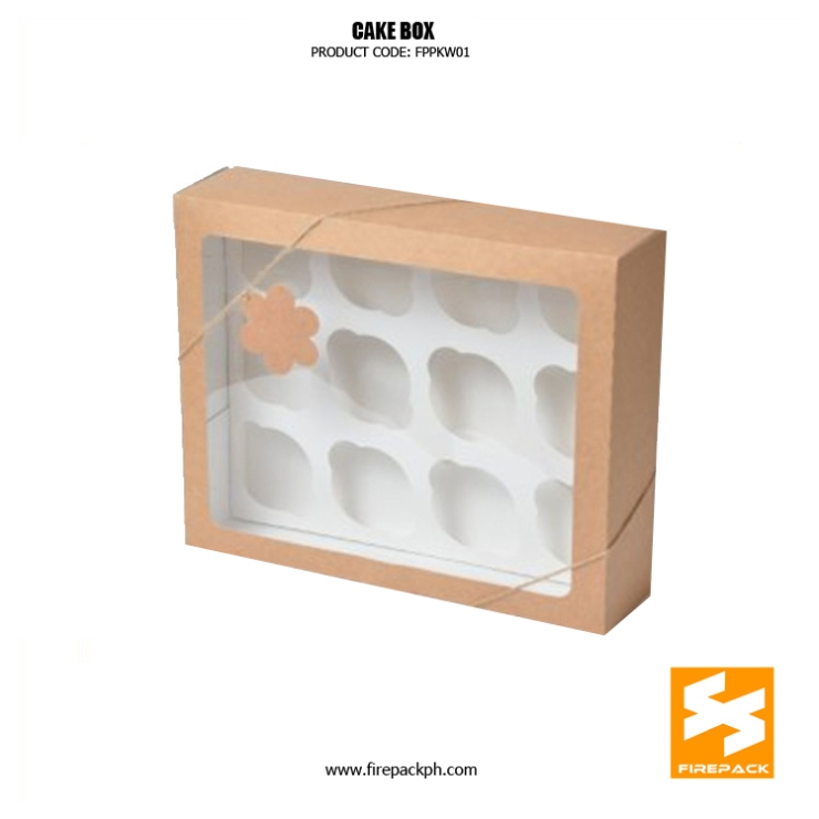 cake box design with window supplier manila firepack