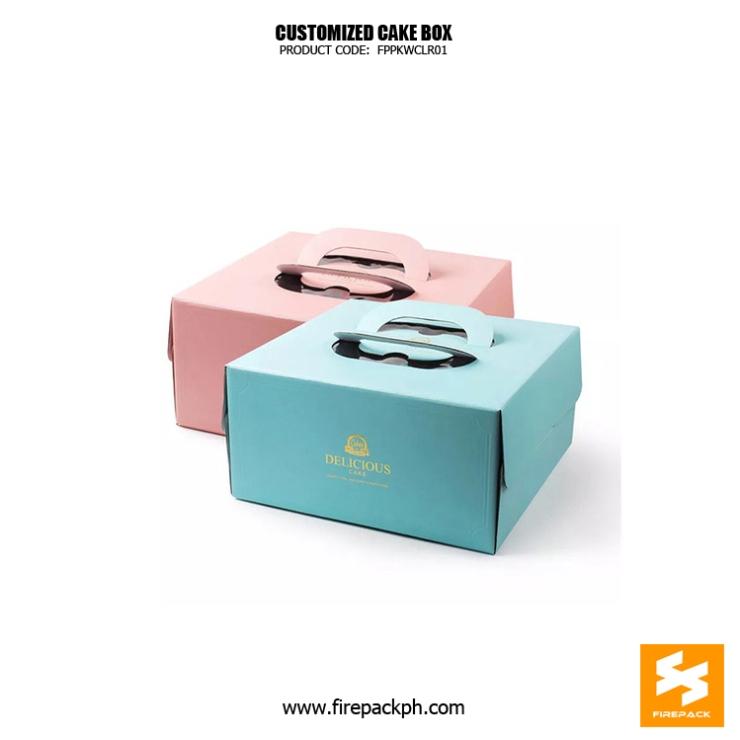 cake box supplier maker cebu customized paper board