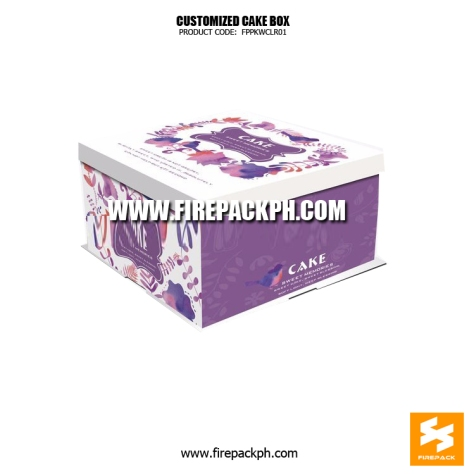 cake box supplier violet color design
