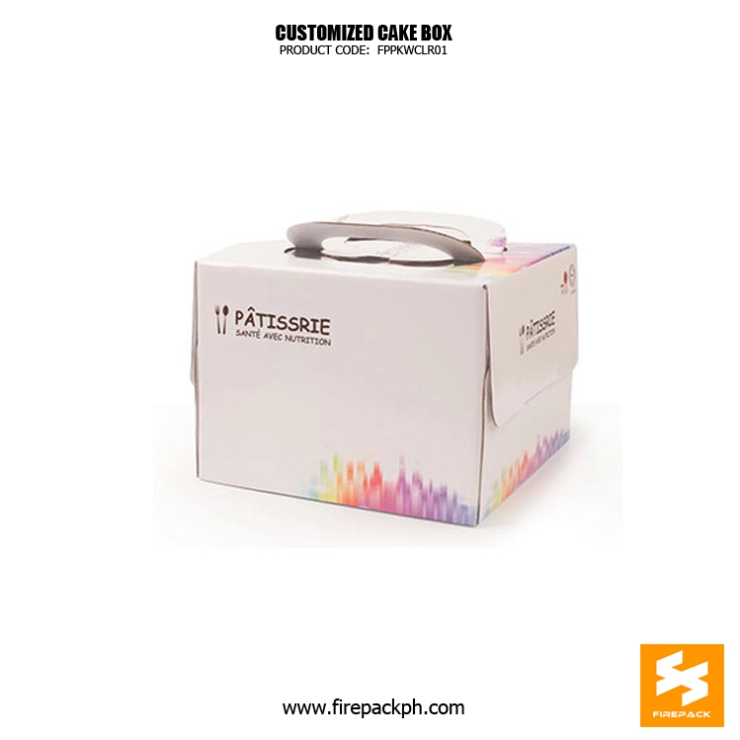 cake box with handle maker quality manila supplier