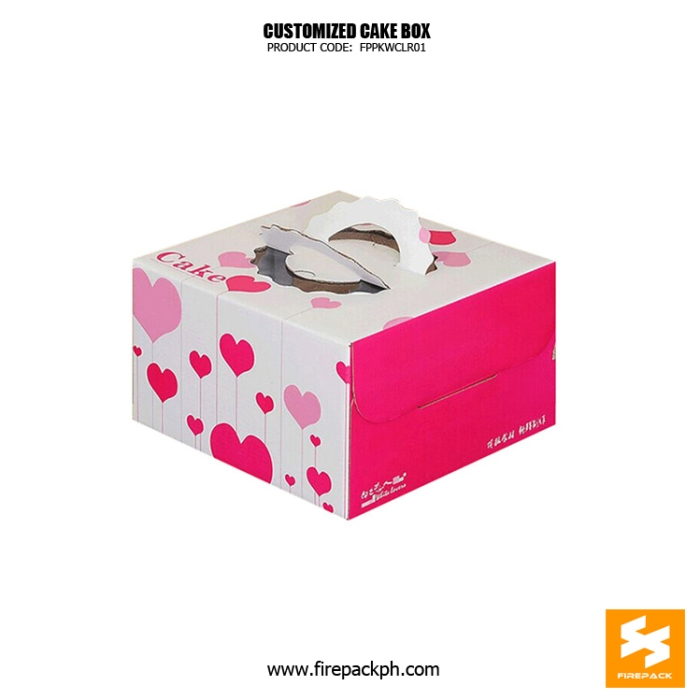 cake box with handle with window design maker manila supplier