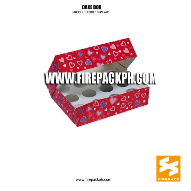 cake box with heart design supplier