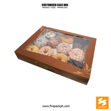 cake box with window design maker