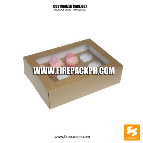 cake box with window kraft paper box supplier