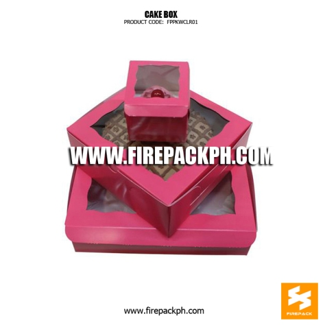 cake box with window pink color design supplier manila