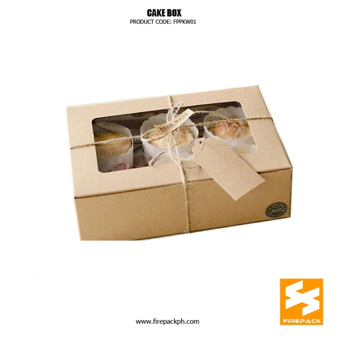 cake box with window supplier manila firepack