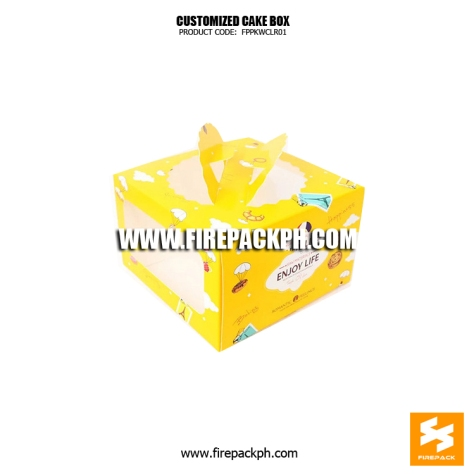 cake box yellow color design maker supplier manila