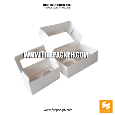 cardboard cake box with window supplier cebu