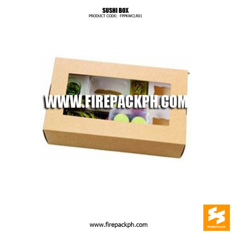cheap sushi box kraft paper box