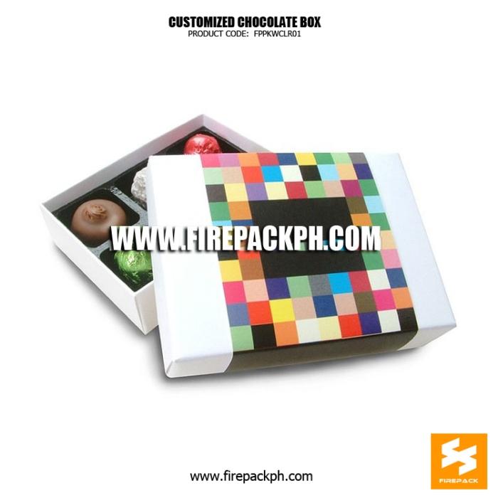 chocolate box cutomized printing supplier manila