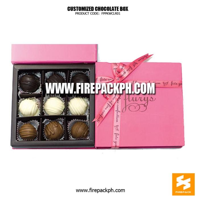 chocolate box pink color supplier manila