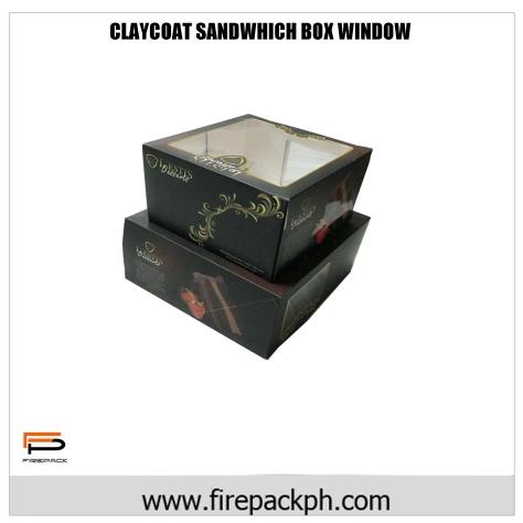 claycoat sandwhich box window box
