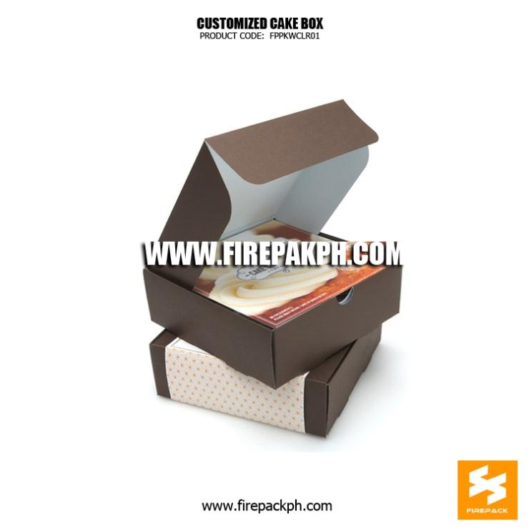 custom printing cake box supplier manufacturer cheap box