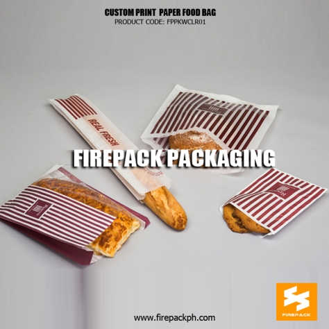customized printing paper bag for bakery supplier manila