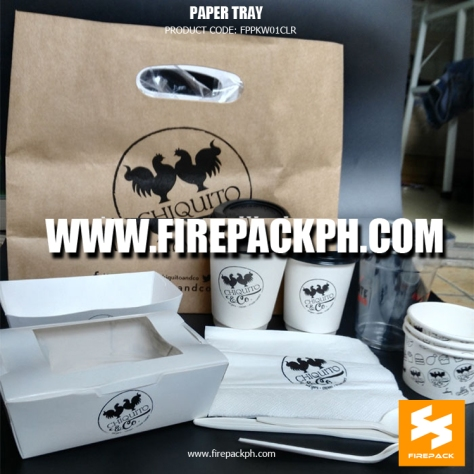 fast food packaging custmomized food meal box paper cups paper bag manila