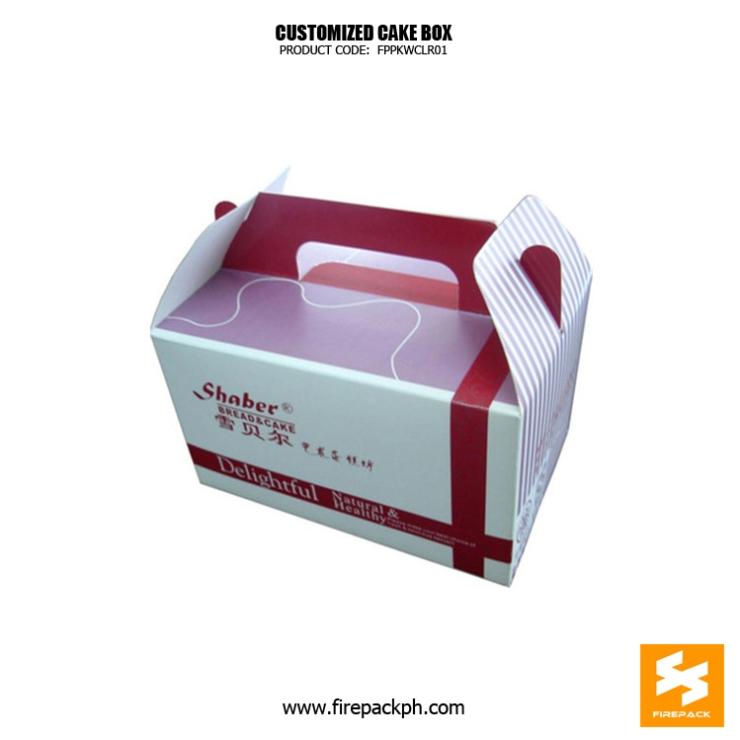 gable box for cake supplier maker