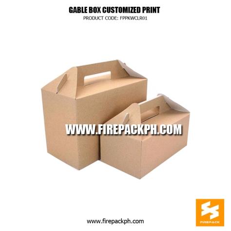 gable box kraft paper supplier firepack