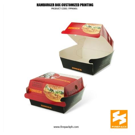 hamburger box maker manila firepack