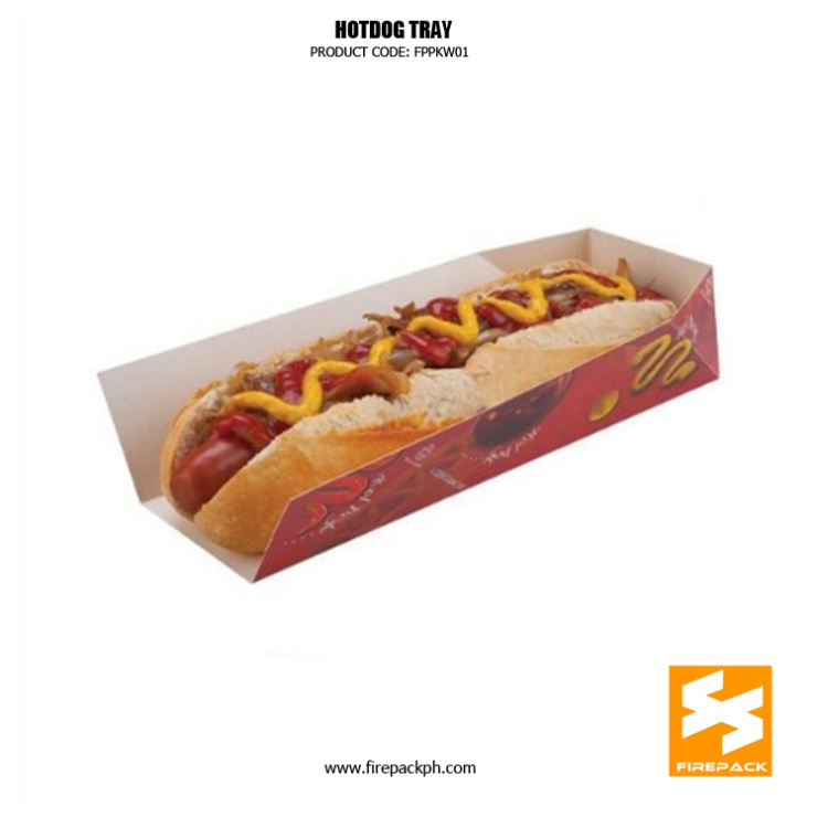 hotdog tray supplier customized manila